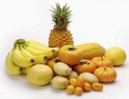 Frutas y verduras amarillas